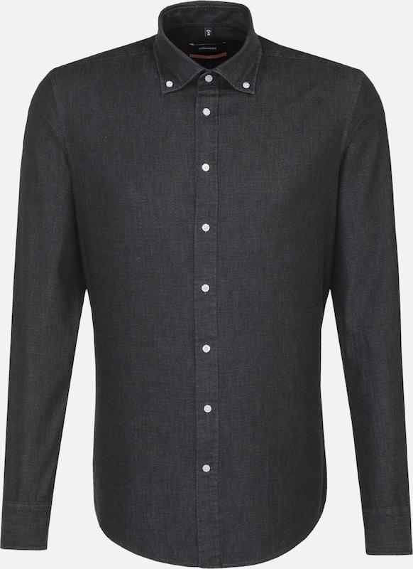 SEIDENSTICKER Hemd 'Slim' in schwarz   weiß  Bequem und günstig