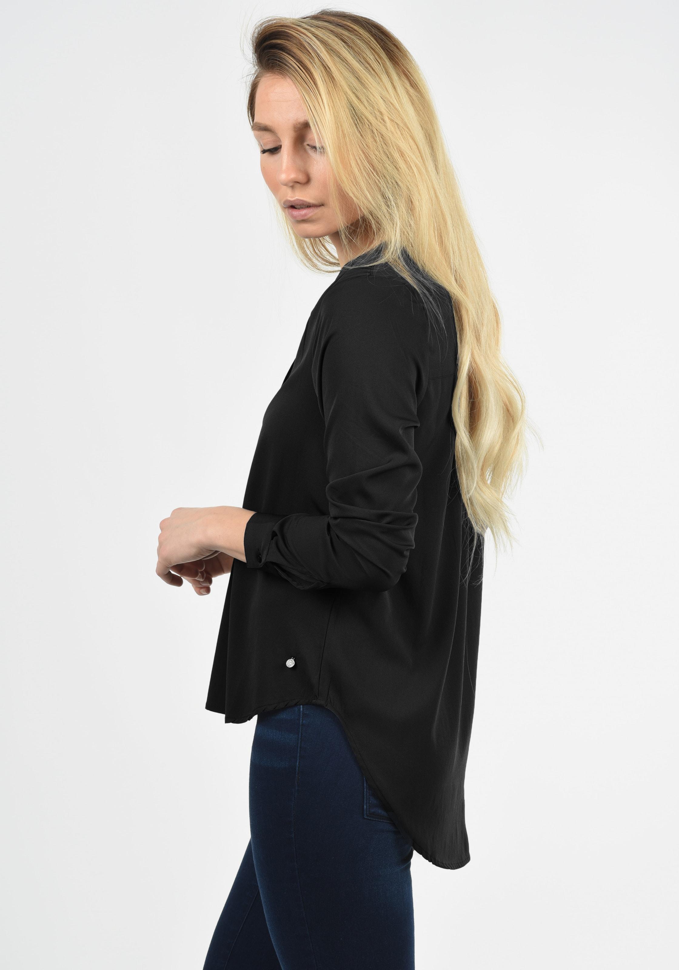 Blend She Langarmbluse 'Amelia' in schwarz