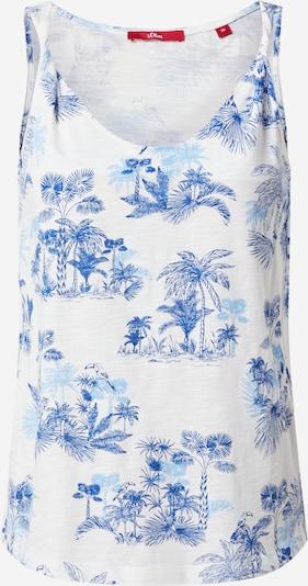 s.Oliver Top in blau / hellblau / weiß, Produktansicht