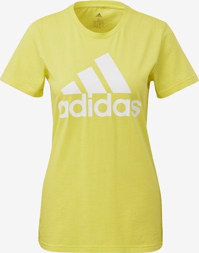 ADIDAS PERFORMANCE Functioneel shirt in de kleur Geel / Wit, Productweergave