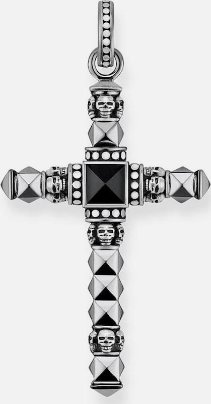 Thomas Sabo Croix Pendentif ethno Cross Noir Petit, Pe774-698-11