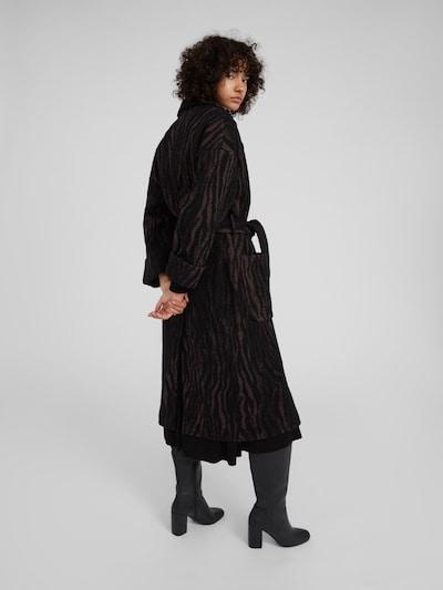 Rudeninis-žieminis paltas 'Santo' iš EDITED , spalva - ruda / juoda: Vaizdas iš galinės pusės