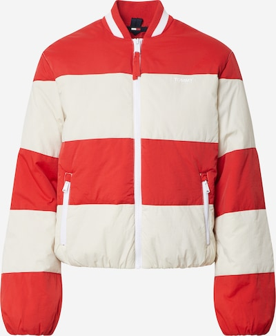 Tommy Jeans Jacke 'TJW COLORBLOCK TRACK' in rot / weiß, Produktansicht