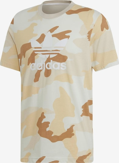 ADIDAS ORIGINALS T-Shirt in beige / sand / weiß: Frontalansicht