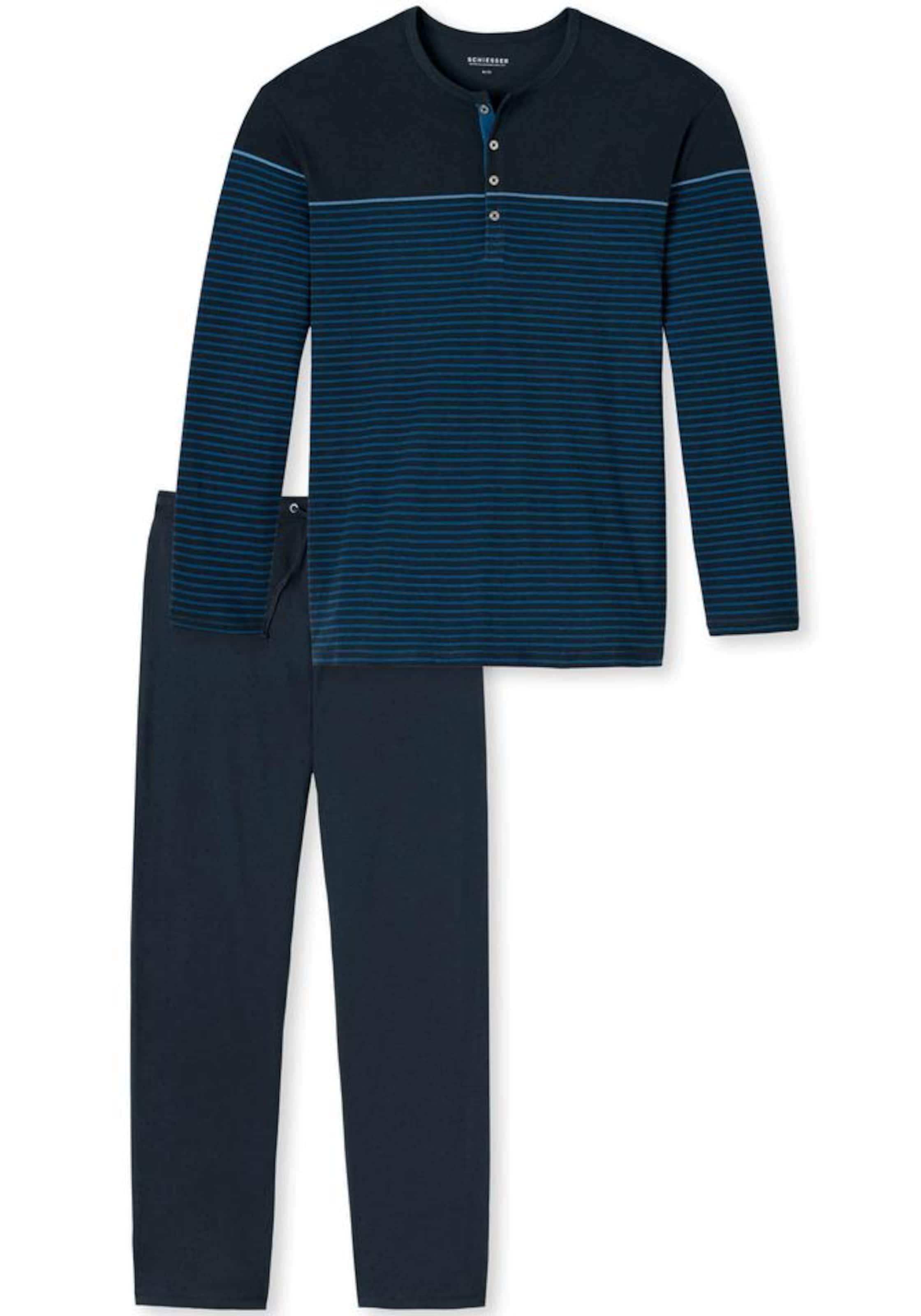 SCHIESSER Langer Pyjama Bestpreis Auslass Veröffentlichungstermine QgRotbxoy