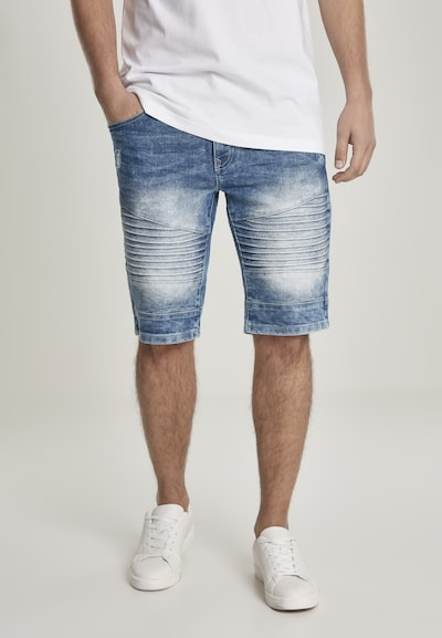 SOUTHPOLE Shorts in blue denim, Modelansicht