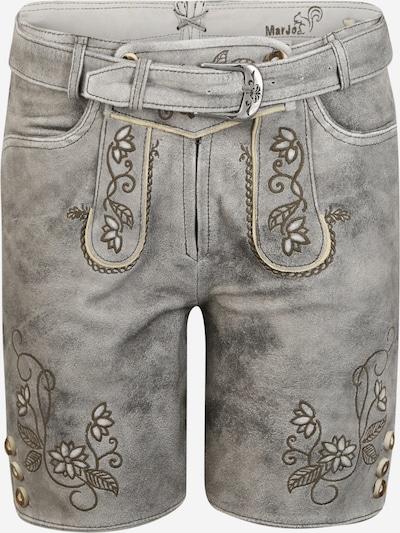 MARJO Pantalon folklorique 'Elsa' en gris, Vue avec produit