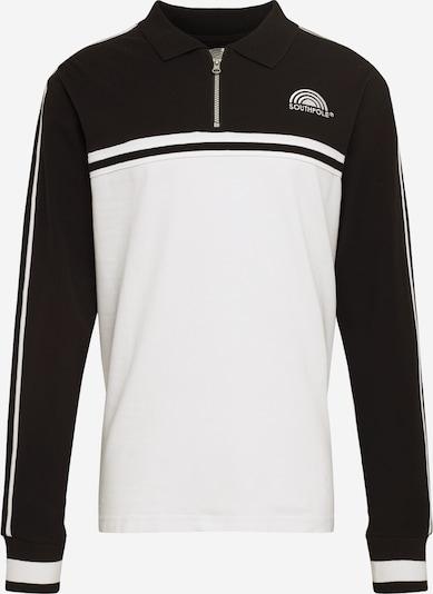 SOUTHPOLE Koszulka 'Southpole Logo Tape Longsleeve' w kolorze czarny / białym, Podgląd produktu