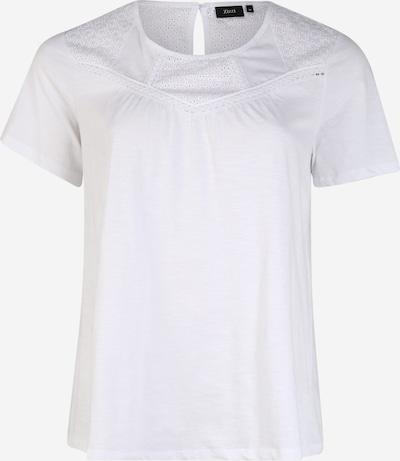 Zizzi T-shirt 'MSIERRA' en blanc, Vue avec produit