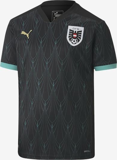 PUMA Functioneel shirt 'Replica' in de kleur Turquoise / Zwart / Wit, Productweergave