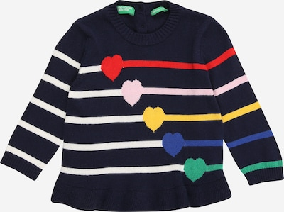 UNITED COLORS OF BENETTON Pullover in navy / mischfarben, Produktansicht