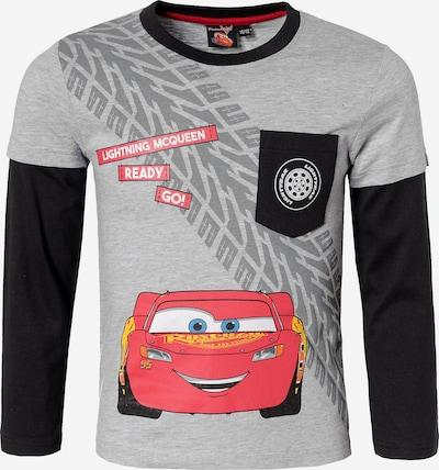 DISNEY Langarmshirt 'Disney Cars' in grau / hellrot / schwarz, Produktansicht