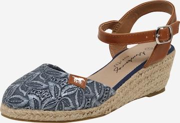 MUSTANG Sandalette in Blau