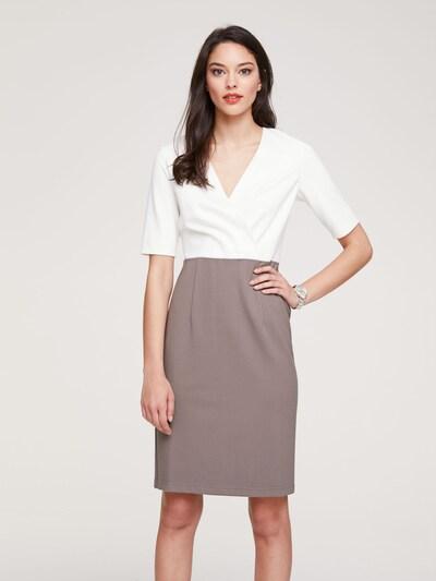 heine Kleid in taupe / offwhite, Modelansicht