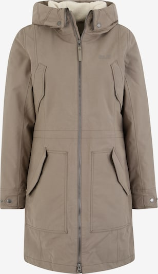 JACK WOLFSKIN Outdoormantel 'ROCKY POINT' in de kleur Taupe, Productweergave