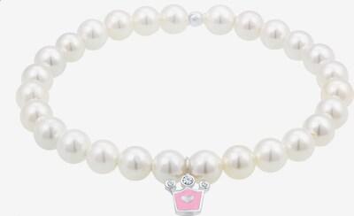 ELLI Armband Krone in pink / perlweiß, Produktansicht