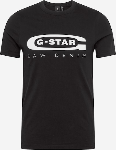 G-Star RAW T-Shirt 'Graphic 4' in schwarz / weiß, Produktansicht