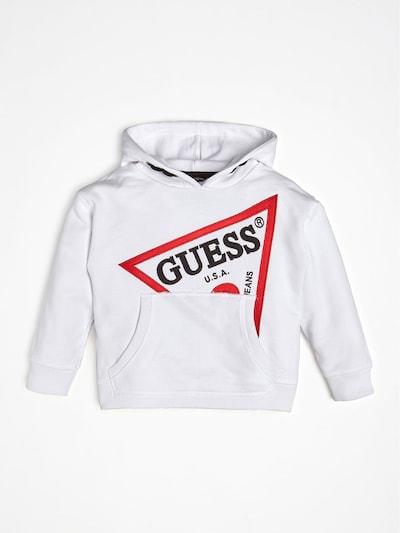 GUESS KIDS Sweatshirt in rot / schwarz / weiß, Produktansicht