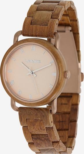 LAiMER Damen Armbanduhr Holzuhr 'Gina' in ocker, Produktansicht