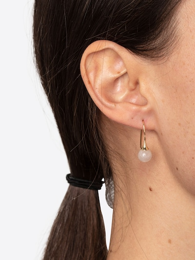 Pilgrim Boucles d'oreilles 'Audre-Anne' en or / rose, Vue avec modèle