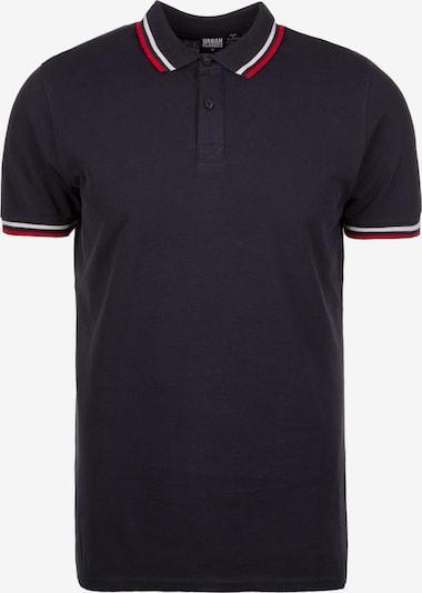 Urban Classics Poloshirt 'Double Stripe' in navy / rot / weiß, Produktansicht