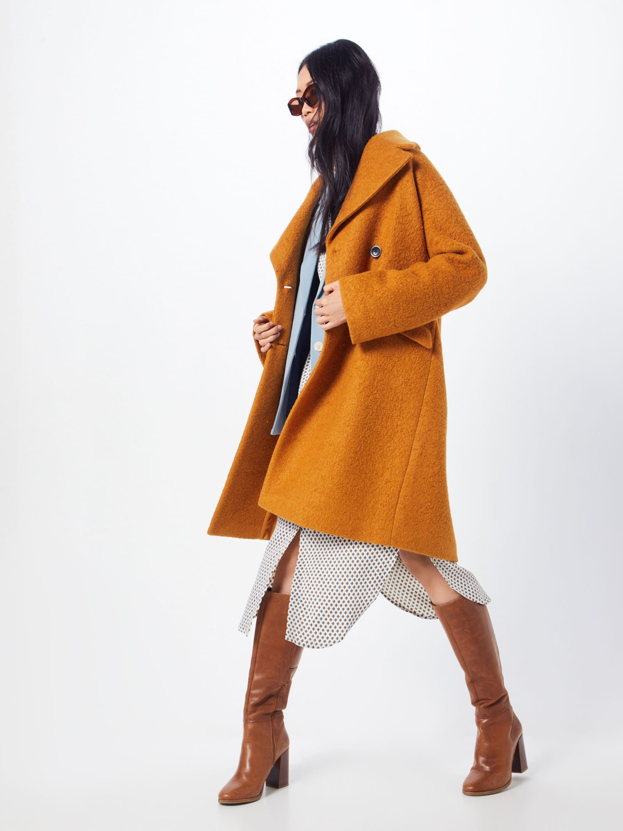Dress Karma Moss Blanc En BleuMarron Robe Aop' chemise 'kimora Copenhagen fvIbgY7y6