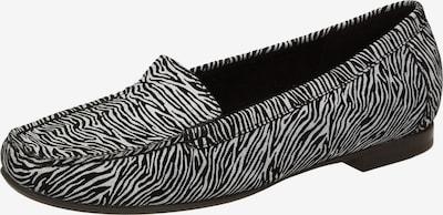 SIOUX Mocassins 'Zalla' in de kleur Zwart / Wit, Productweergave
