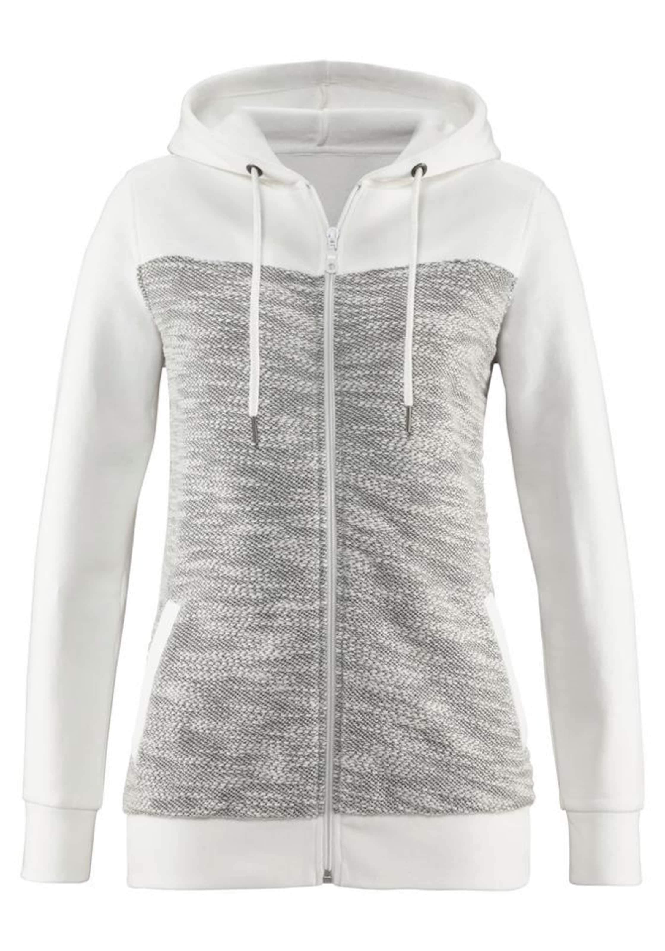 BUFFALO Homewearjacke im modernen Melange-Materialmix Rabatt Mit Paypal Heißen Verkauf Günstig Online Klassisch Günstiger Preis Spielraum Echt zvFW8