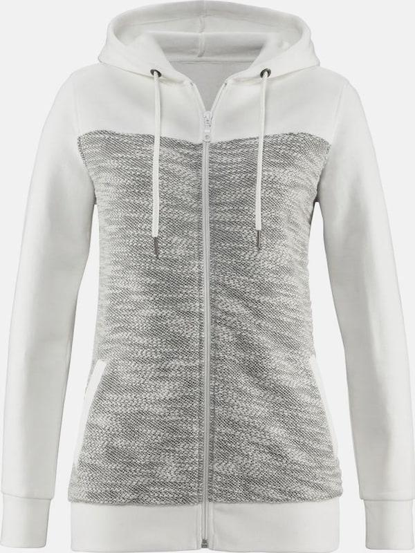 BUFFALO Homewearjacke  im modernen Melange-Materialmix