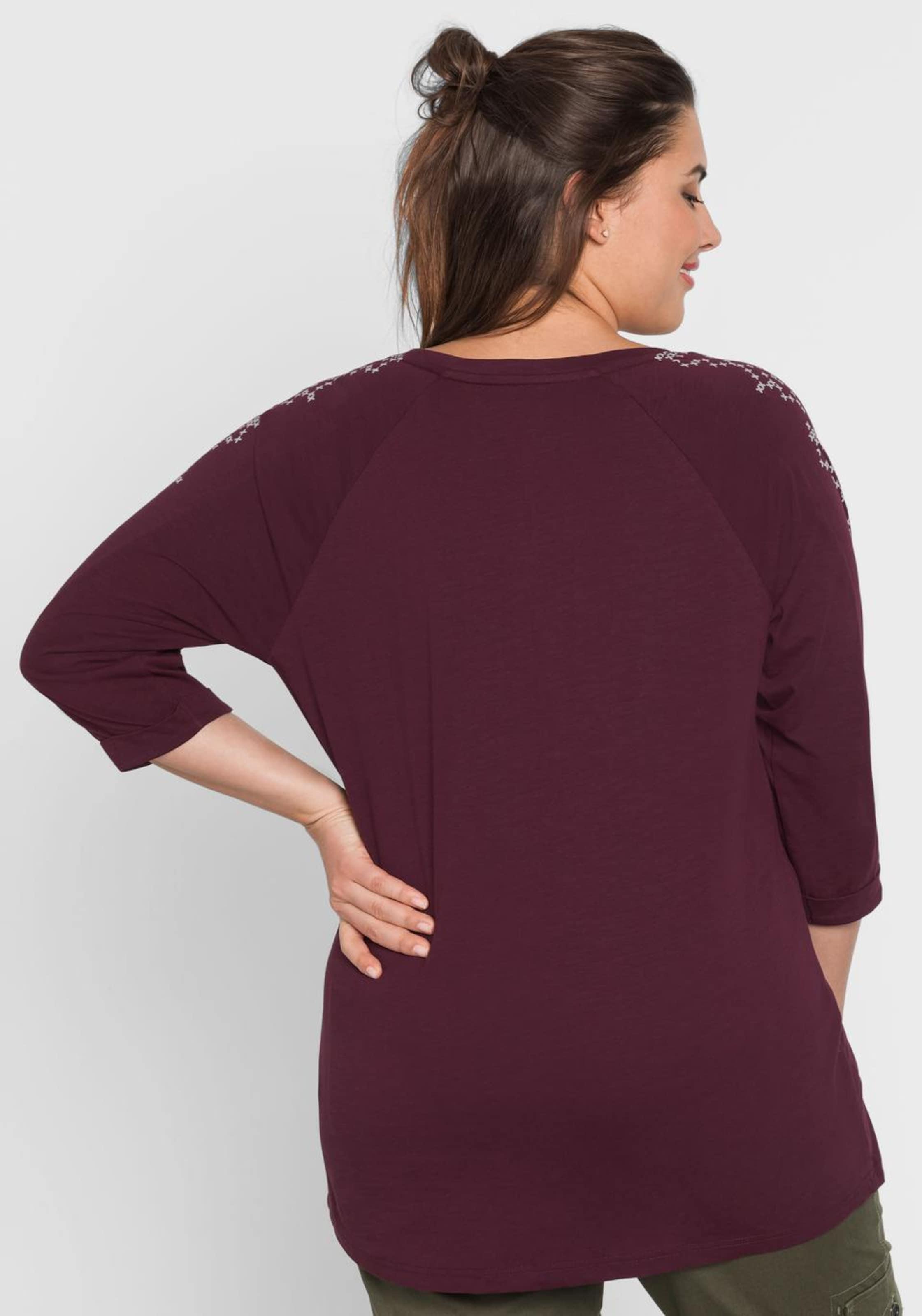 Shirt Sheego Aubergine Shirt Aubergine In Sheego In 5qAR4j3L