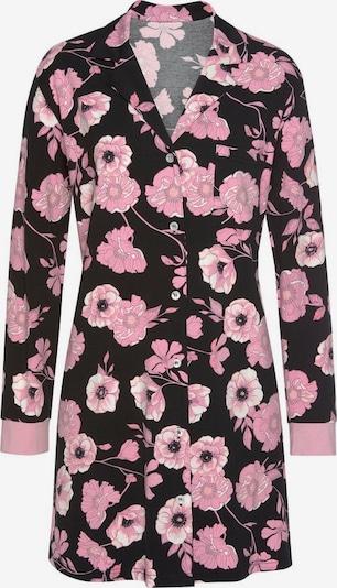 LASCANA Chemise de nuit en rose / noir / blanc, Vue avec produit