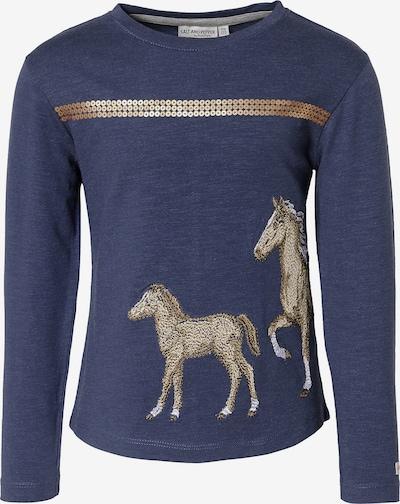 SALT AND PEPPER Langarmshirt   Pferd in blau, Produktansicht