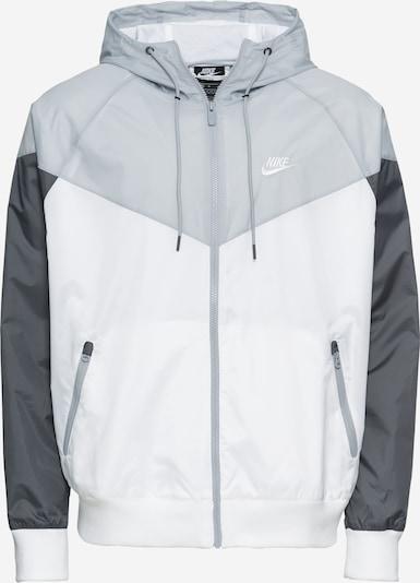 Nike Sportswear Veste mi-saison 'M NSW HE WR JKT HD' en gris / gris foncé / blanc, Vue avec produit