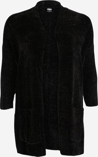 Urban Classics Curvy Gebreid vest in de kleur Zwart, Productweergave