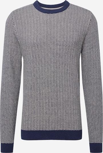 SELECTED HOMME Pullover 'Haiden' in dunkelblau / offwhite, Produktansicht