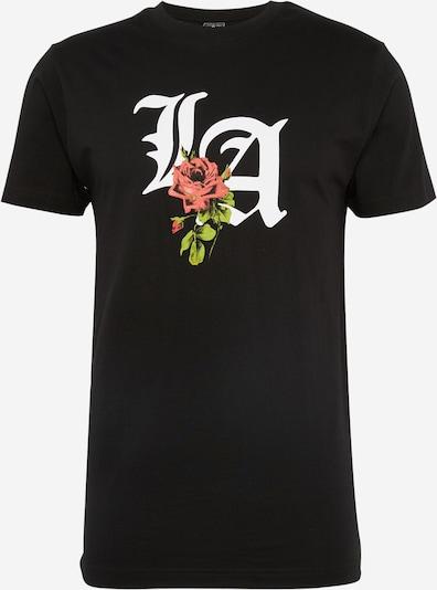 Mister Tee T-Shirt 'LA Rose' in mischfarben / schwarz: Frontalansicht