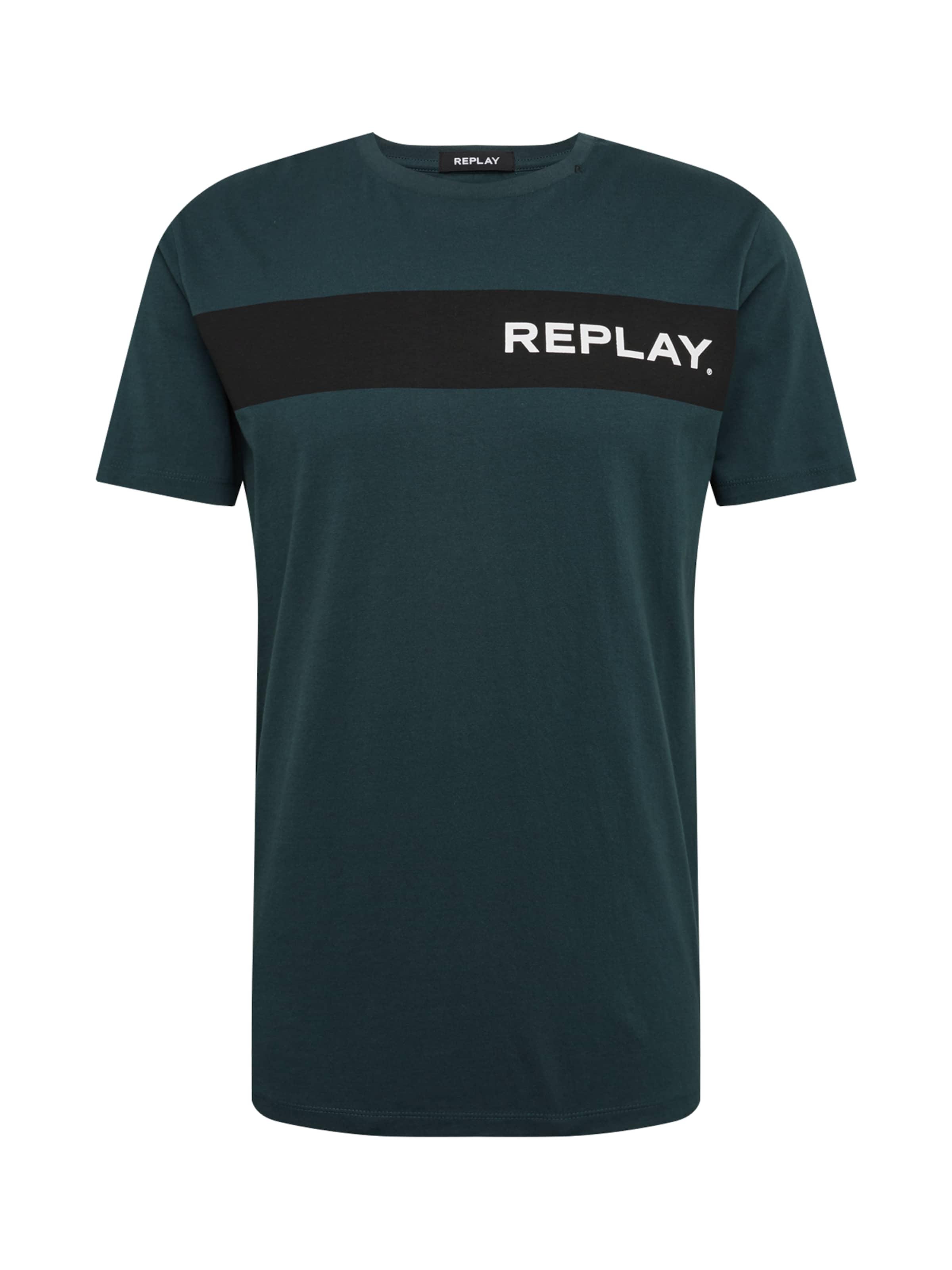 Foncé Replay shirt Vert T En eH9YWDE2I