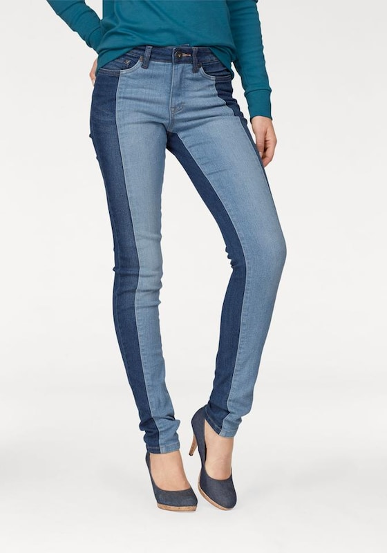 ARIZONA Skinny-fit-Jeans mit  trendigem two-tone-Effekt