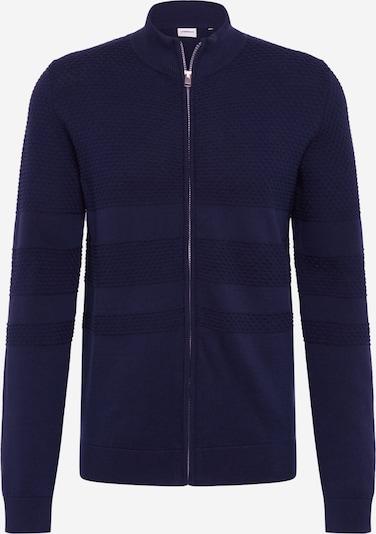Geacă tricotată Lindbergh pe albastru închis, Vizualizare produs