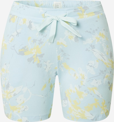 SCHIESSER Pajama pants in Light blue / Yellow, Item view