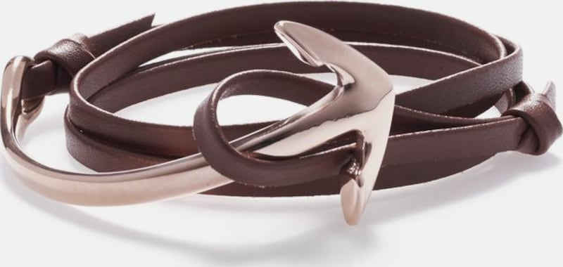 ROYAL-EGO Wickelarmband 'Anchor leather brown, 1291'