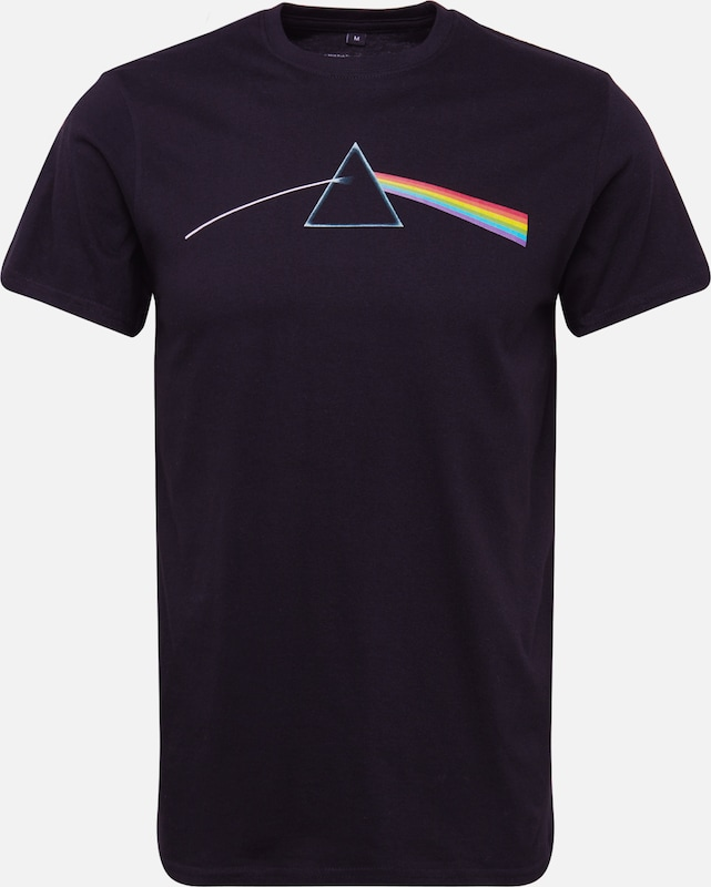 Mister Tee Shirt 'Pink Floyd Dark Side of the Moon Tee' in schwarz: Frontalansicht