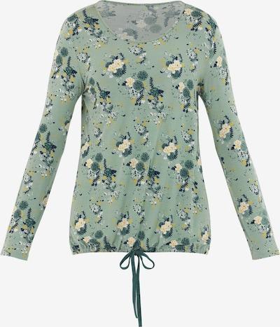 PALMERS Slaapshirt 'Garden Nights Langarmshirt' in de kleur Lichtgeel / Mintgroen, Productweergave