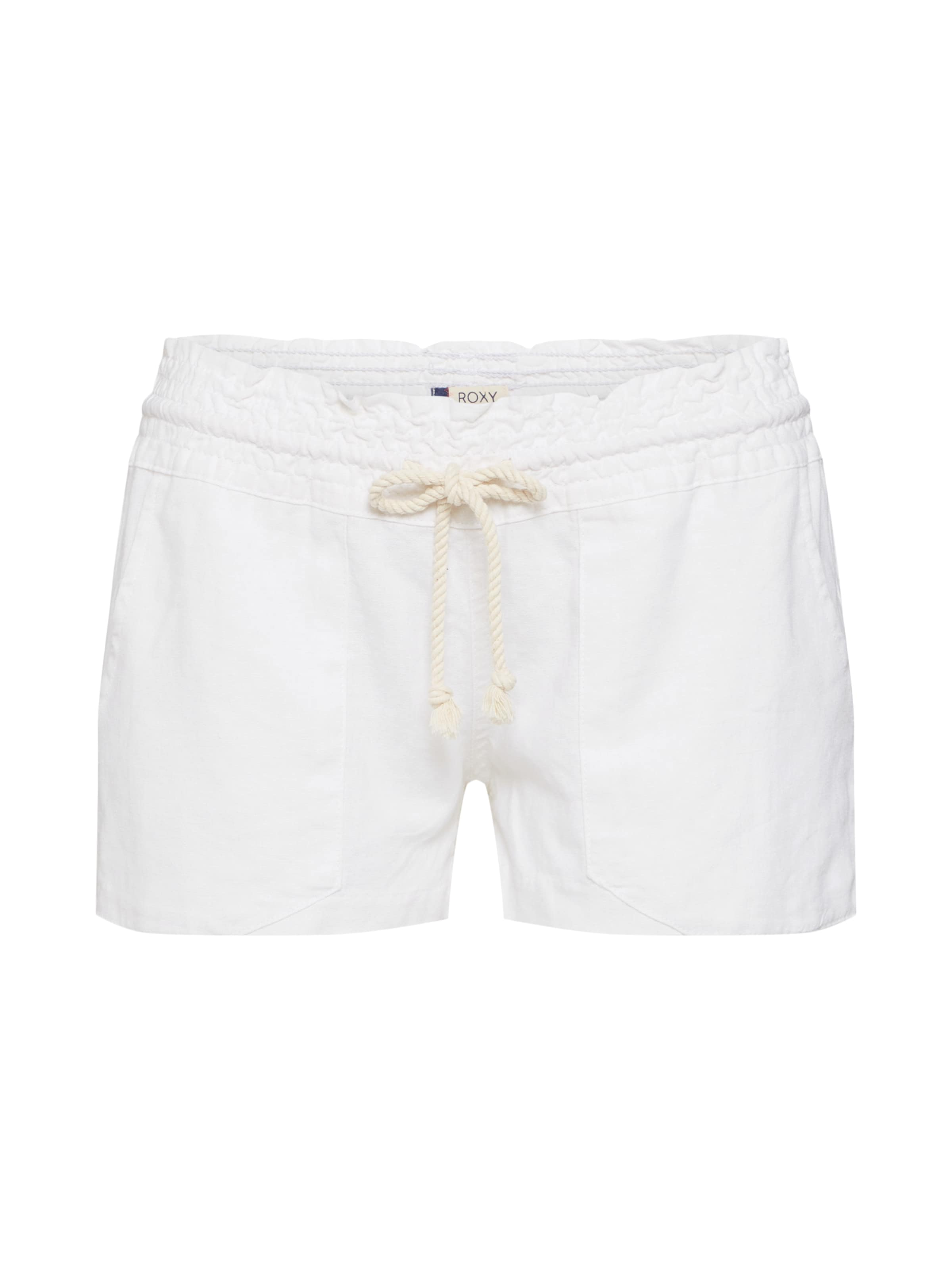 In Shorts Weiß Roxy 'oceanside' Aus Leinen KcF1JTl