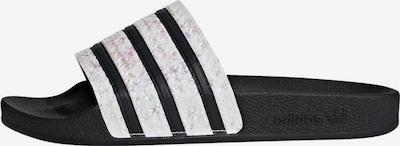 ADIDAS ORIGINALS Slipper in schwarz / weiß, Produktansicht