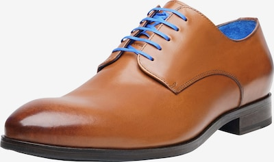SHOEPASSION Businessschuhe durchgenäht 'No. 5619 BL' in blau / cognac, Produktansicht