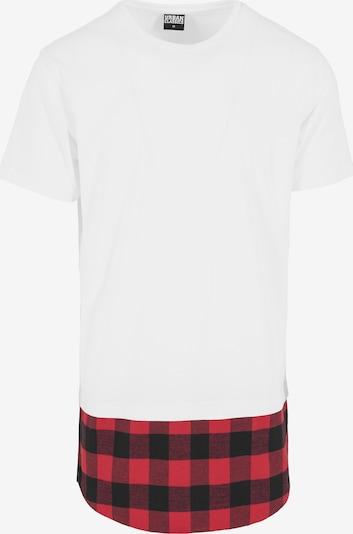 Urban Classics Shirt in de kleur Rood / Zwart / Wit, Productweergave