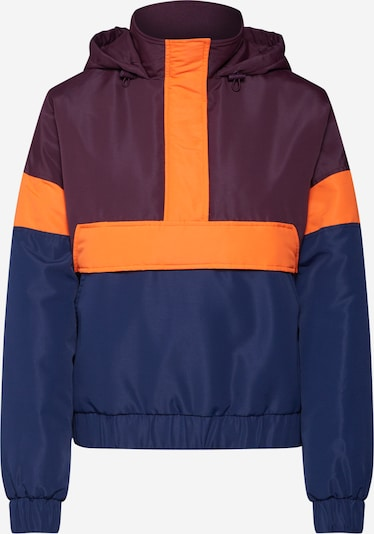 Urban Classics Veste mi-saison en bleu marine / orange fluo / lie de vin, Vue avec produit