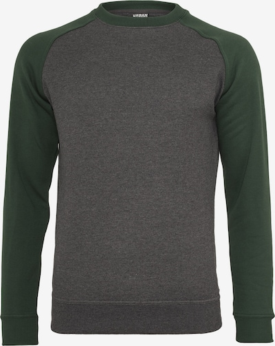 Urban Classics Sweatshirt in de kleur Donkergrijs / Grasgroen, Productweergave