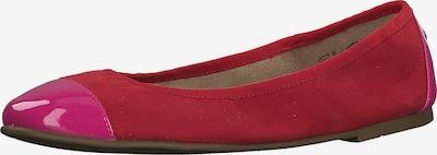 s.Oliver Klassische Ballerinas in pink / rot, Produktansicht
